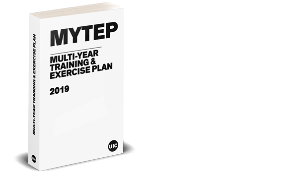 A render of a white book illustrating the Multi-Year Training and Exercise Plan