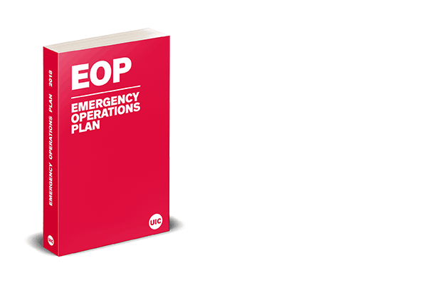 A render of a red book represent the EOP document