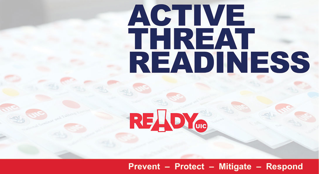 Digital render of the cover slide of the presentation for the Active Threat Readiness Seminar