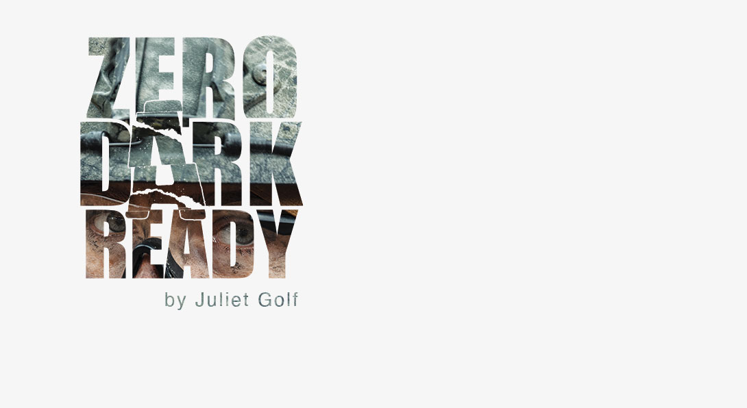 Blog logo. Zero Dark Ready by Juliet Golf.